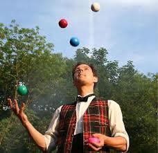 jonglör gösterisi