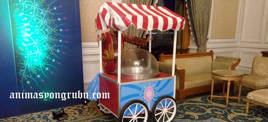 pamuk şekeri standı arabaları