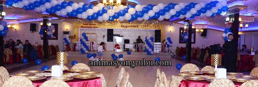 sünnet düğünlerinde zincir balon süsleme