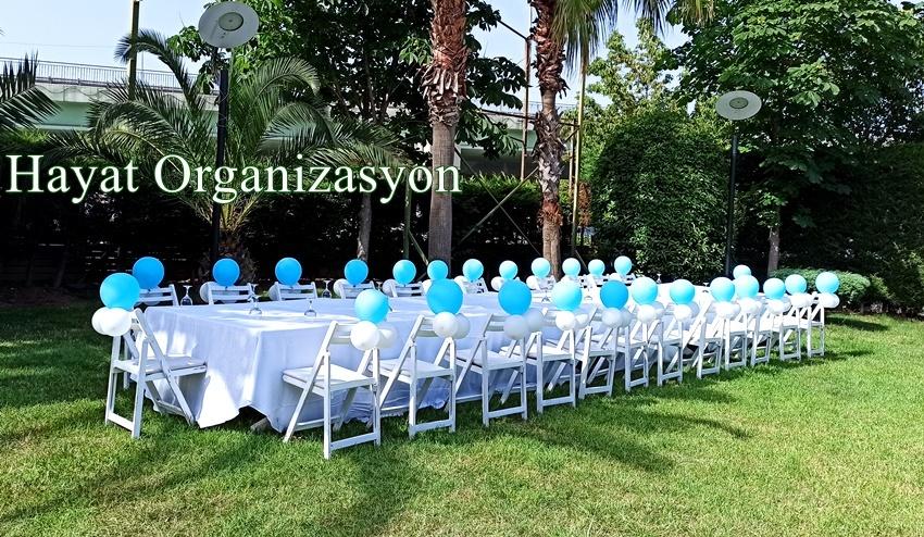 sünnet organizasyonu mavi balon süsleme