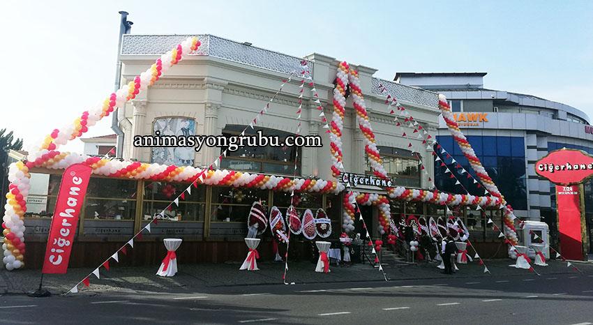 mağaza ve dükkan açılışı balon süsleme