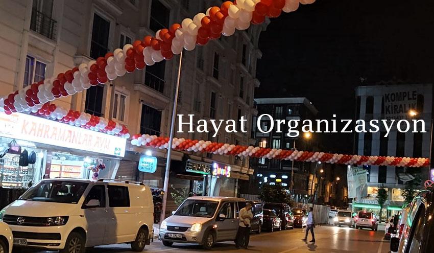 balon süslemesi açılış organizasyonu